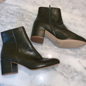 Urban Outfitters Embossed Booties, size 8